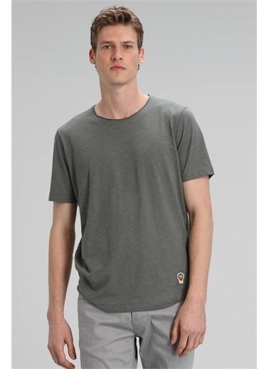 Lufian Junya Modern Grafik T- Shirt Haki Haki